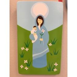 CADRE BOIS MARIE ET JESUS